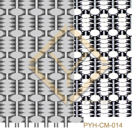 Luxury decorative crimped mesh panel