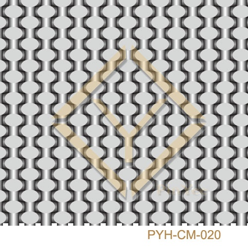 Crimped metal wire mesh for interior decorative