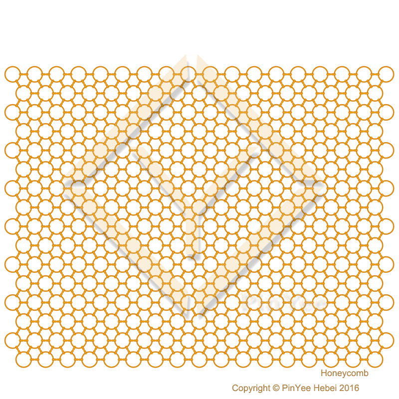Hexxagon honeycomb ring mesh space dividers