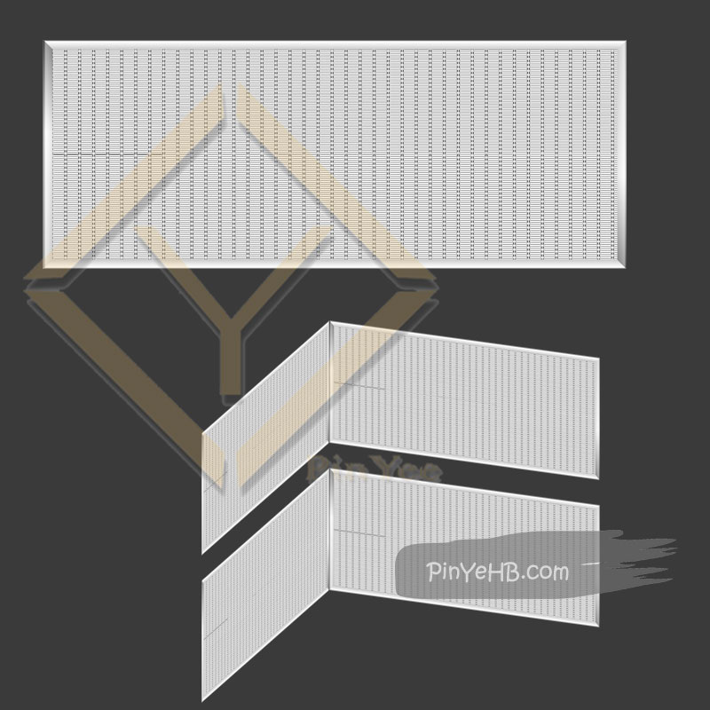 Hebei PinYee wall cladding metal mesh panel 3D vision, detail installation ways