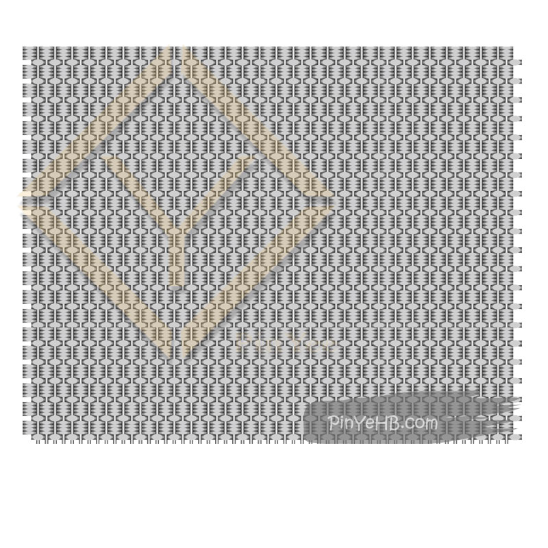 a decorative crimped woven metal mesh for facade & wall cladding decorative