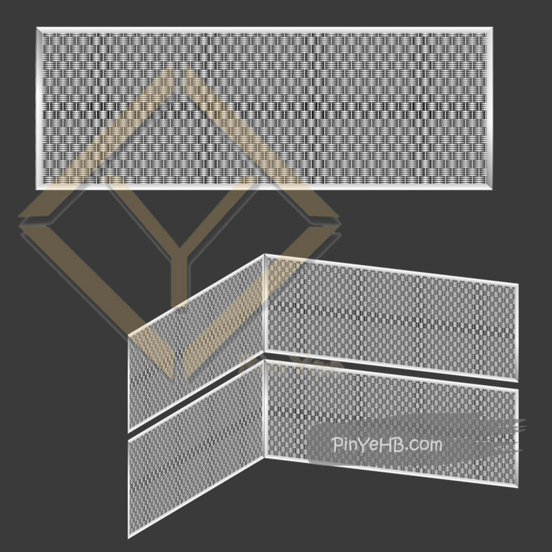 detail elevator decorative metal mesh 3D vision by pinyee hebei