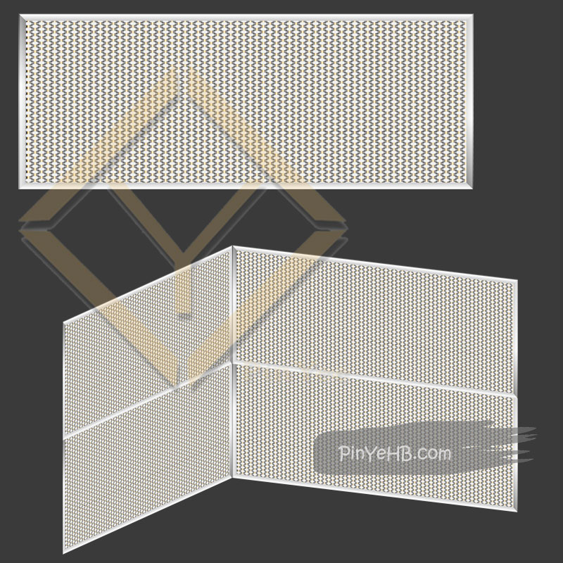 Mirror finished woven metal mesh for interior wall cladding