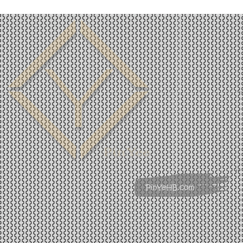 Decorative crimped metal wire mesh for interior decorative