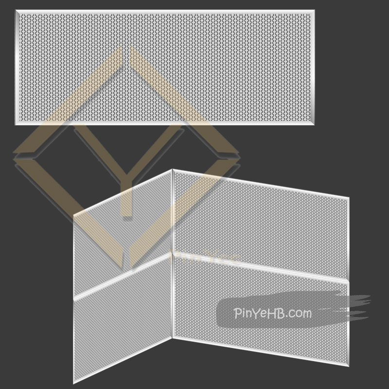 Interior decorative architectural mesh with installation ways in 3D vision