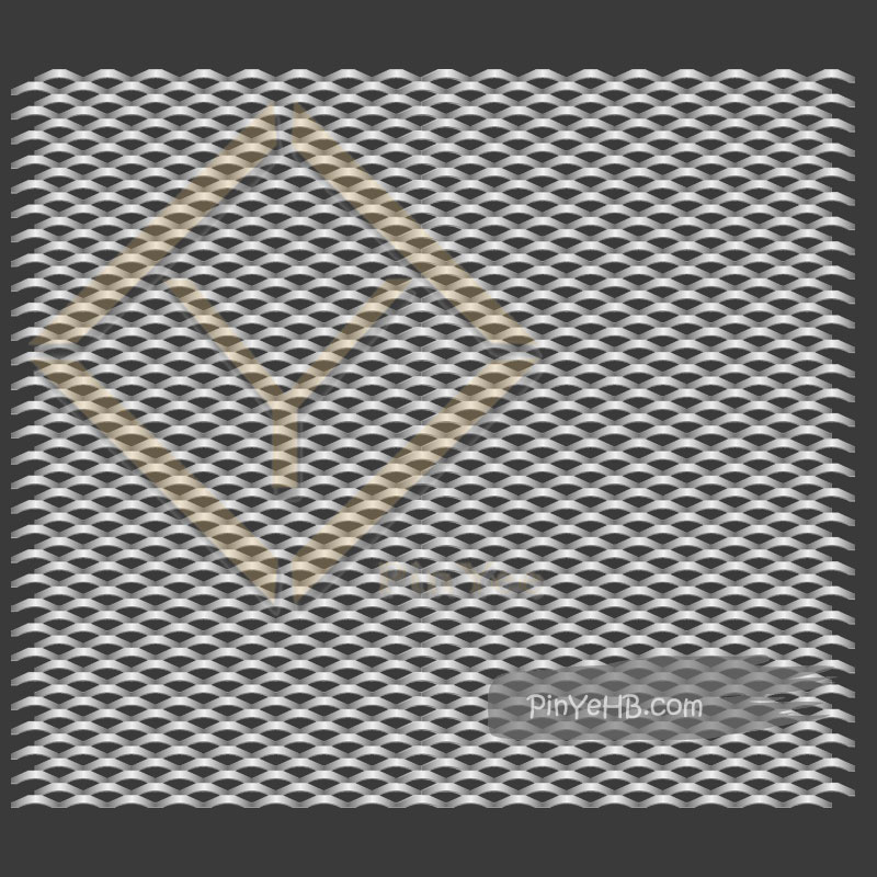 Interior Expanded Metal mesh panel wall caldding