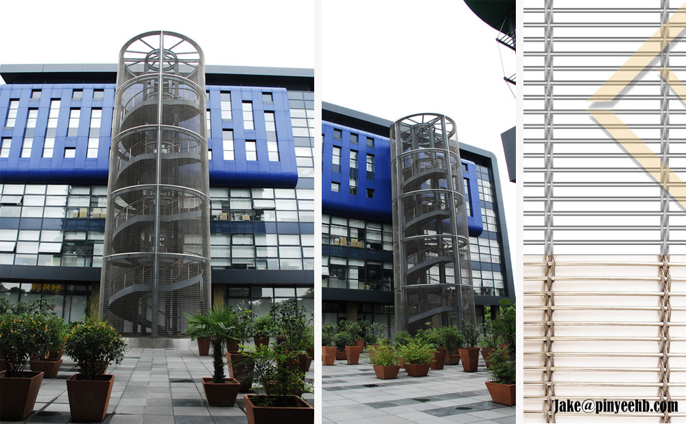 facade protection mesh curtain wall