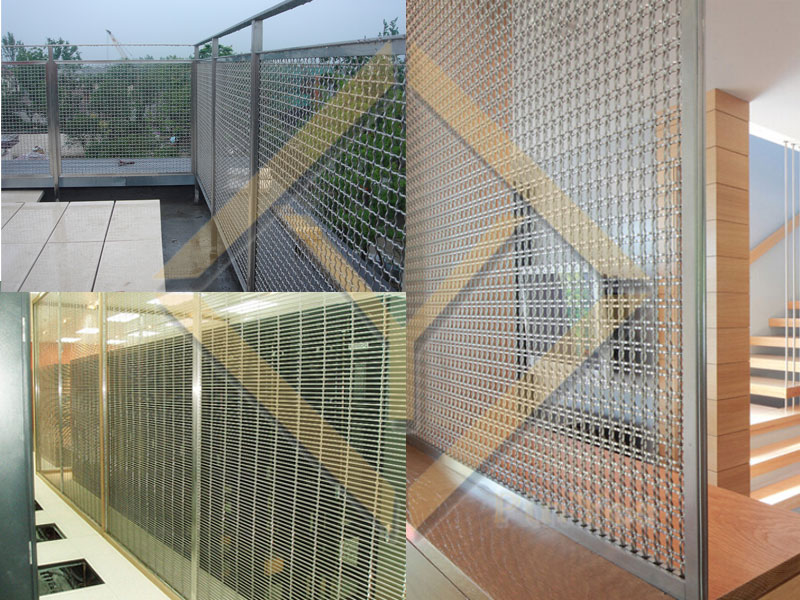Architectural mesh dividers